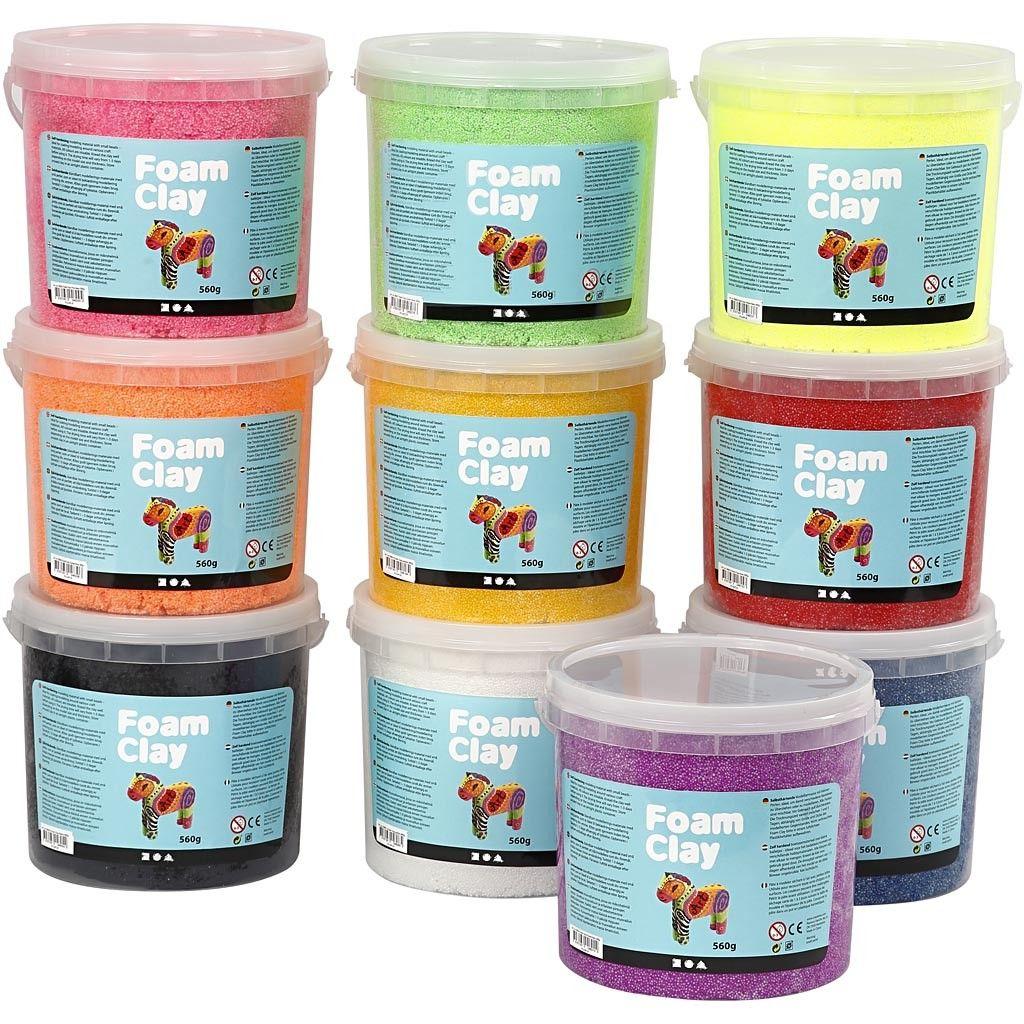 Foam Clay - Sortierte Farben (10 x 560 g)