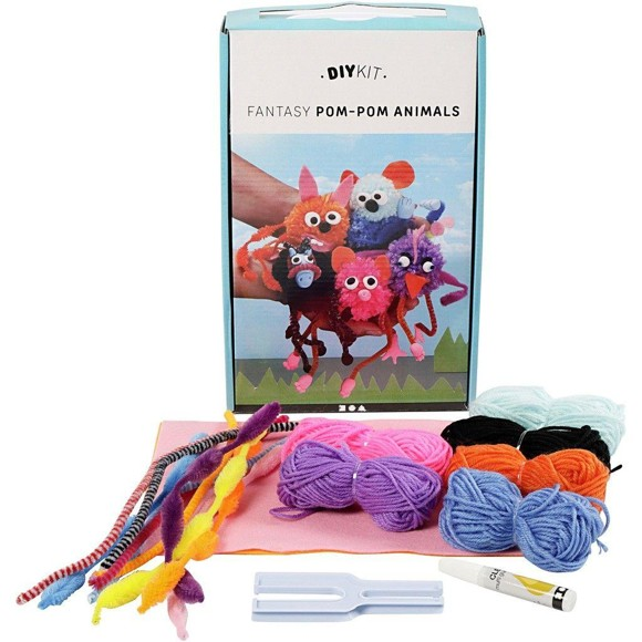 DIY Kit - Funny Friends - Pom-Pom Dyr