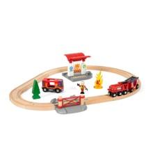 BRIO - Togsæt med brandmandstema (33815)