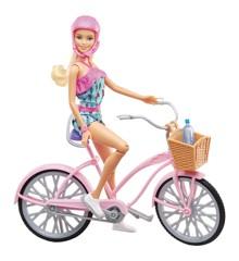 Barbie - Dukke med Cykel (FTV96)