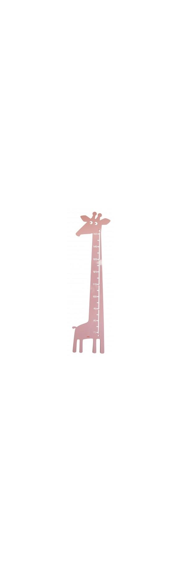 Roommate - Giraf Højdemåler 115 x 28 cm - Rosa