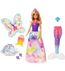 Barbie - Dreamtopia Doll with 3 costumes (FJD08)