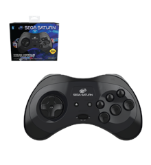 Retro-Bit SEGA Saturn BT Pad Black