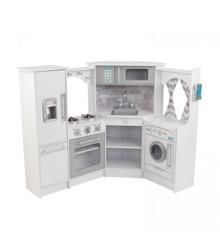 KidKraft - Ultimate Corner Play Kitchen Set w/ Lights & Sounds - White (53386)