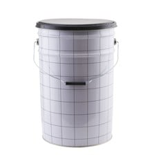​House Doctor - The Bucket Laundry Basket/Stool - White/Black (CJ0803)