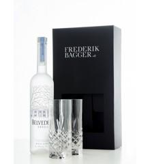 Belvedere - Vodka Pure 40%, 70 cl + Frederik Bagger - Crispy Highball Krystal Glas - 2 pak