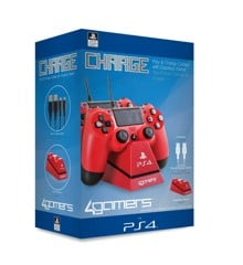 Playstation 4 Charge Play and Charge Cables - Red