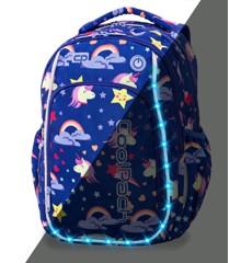 Coolpack - Skoletaske med LED-belysning - Enhjørninge