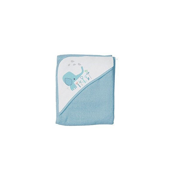 Baby Dan - Bath Cape Elefantastic - Blue
