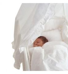 Baby Dan - Sofie Vuggehimmel - Broderi Anglasie - Hvid (1800-8401)