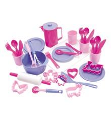 Dantoy - Bage -og serveringssæt - Pink (4455)