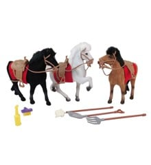 Happy People - Three Horses w. Different Colors (43234)