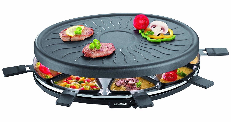 Severin - Raclette 8 pers. 1100 watt - Black (494900)
