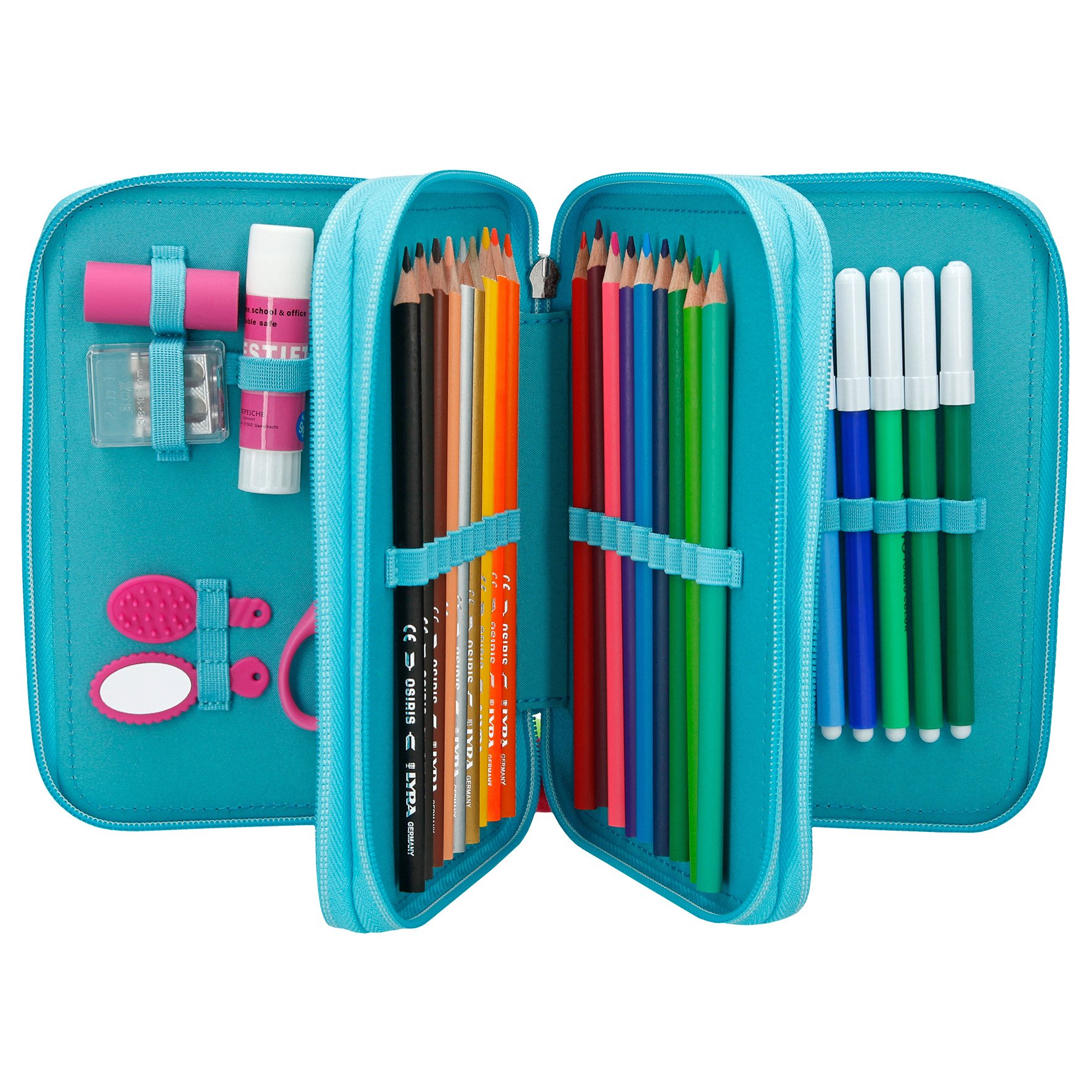 Köp Miss Melody - Tripple Pencil Case - Turquoise (040340)