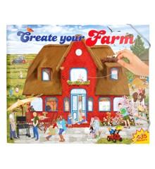 Creativ Studio - Create Your Funny Farm Aktivitetsbog m/stickers