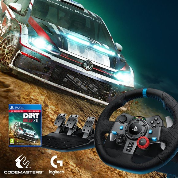 ​Logitech G29 Driving Force PS3/PS4 + Dirt Rally 2.0 Bundle