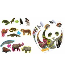 WWF - Puzzle - 12 Shape Animal Puzzles In Panda Box (WWF201)