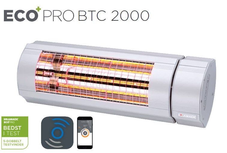 Solamagic - 2000 ECO+ PRO Patio Heater - Bluetooth Controlled - Titanium