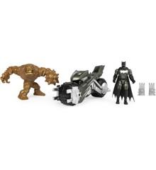 Batman - Batcykel med 2 Figurer, 10 cm