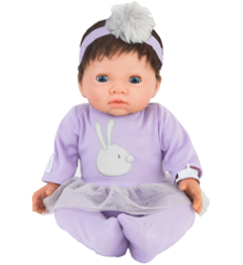 Tiny Treasure - Doll w/ Brown Hair & Purple Tutu Dress (30140)