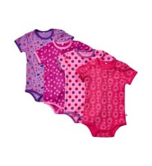 Pippi - S.S Body 4-pack - Pink