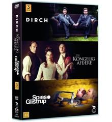 Guldboxen - Dirch / En Kongelig Affære / Spies & Glistrup (3 film) - DVD