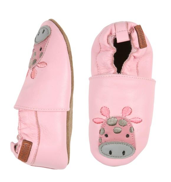 Melton - Leather shoe w. Giraffe