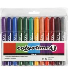 Colortime - Filzschreiber 5 mm - 12 Stck.
