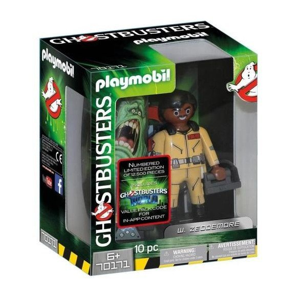 Playmobil - Ghostbusters - Collection Figure W. Zeddemore, 15 cm (70171)