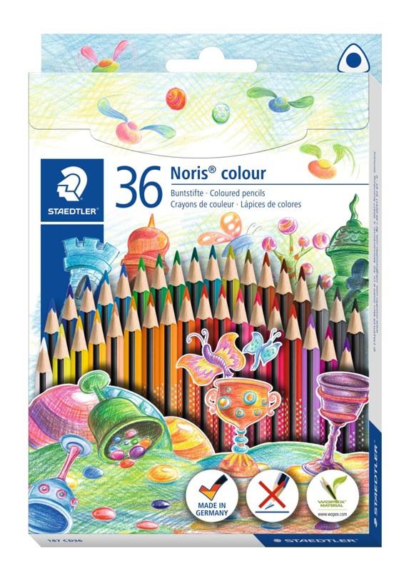 Staedtler - Noris Color Triangle Coloured Pencils, 36 pc (187 CD36)