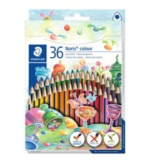 Staedtler - Noris colour trekantede Miljøfarblyanter, 36 stk