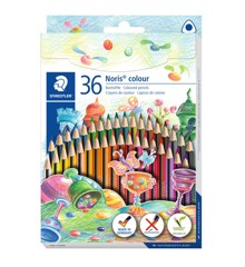 Staedtler - Noris colour trekantede miljøfargeblyanter, 36 stk (187 CD36)