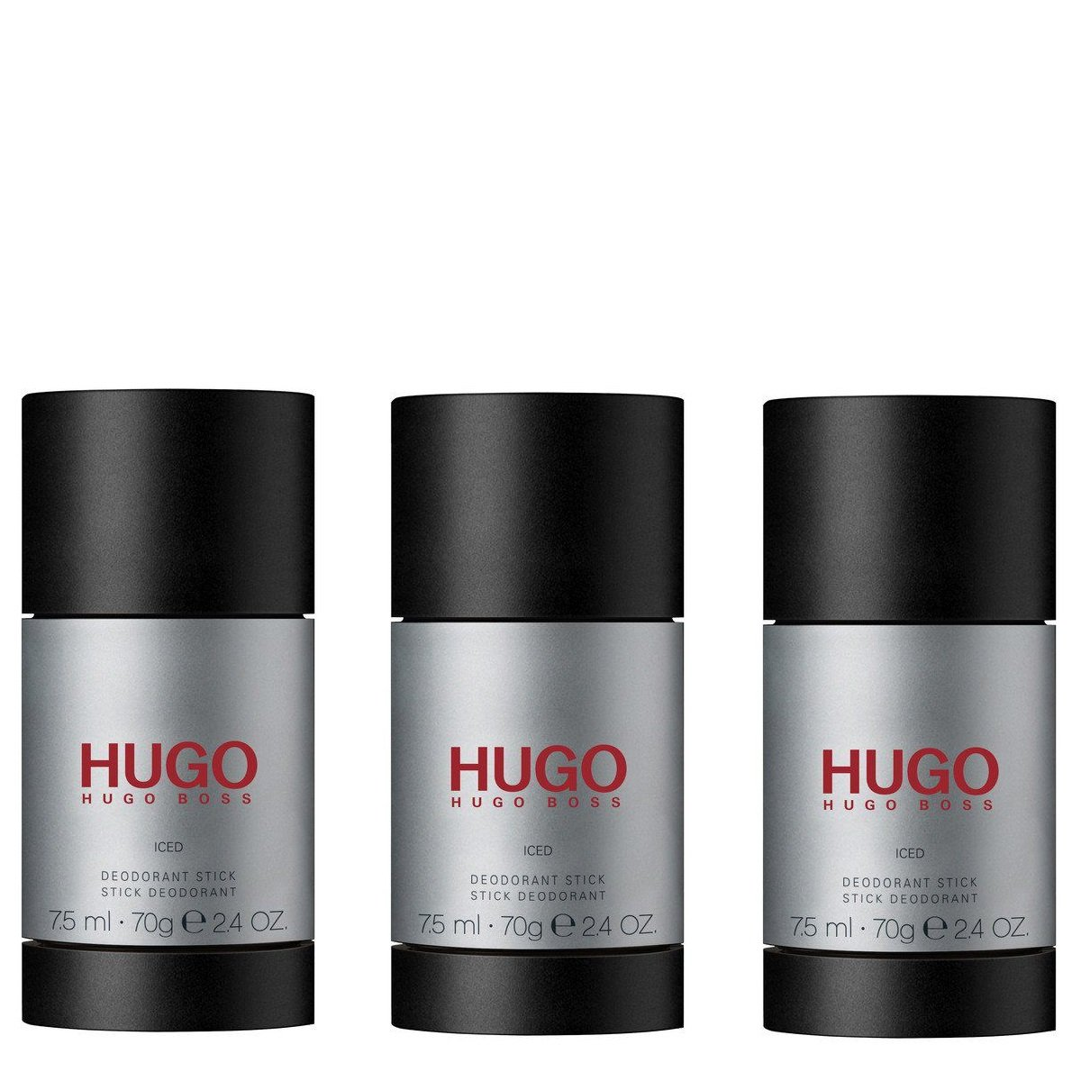 Hugo Boss - 3x Hugo Iced Deodorant Stick 75 ml