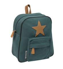 Smallstuff - Little Backpack w. Leather Star - Dark Green