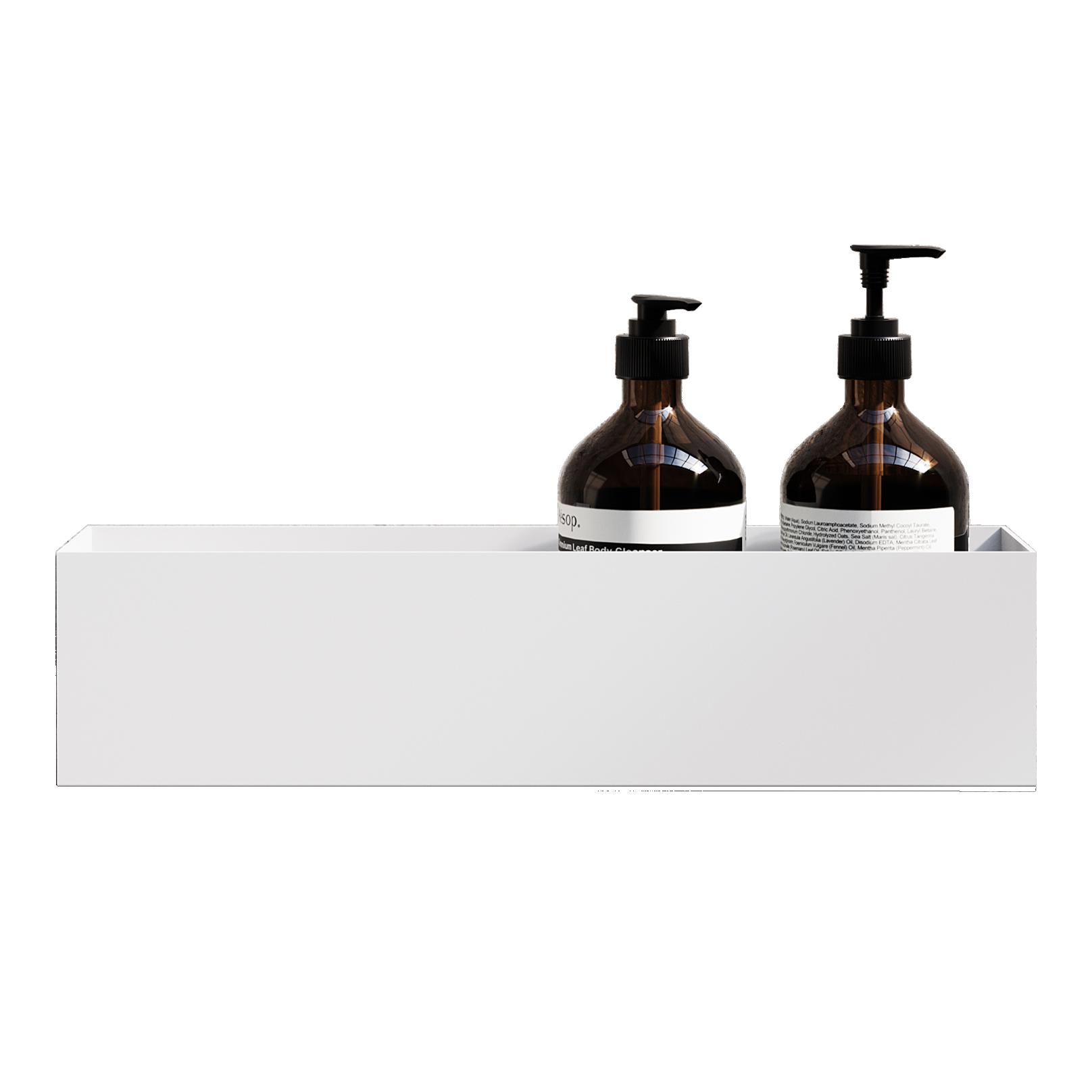 Nichba - Bath Shelf 40 Aufbewahrungsregal - Weiss (L100105W)