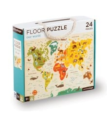 Petit Collage - Floor puzzle with our world, 24 pcs