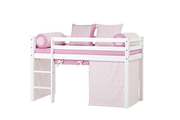 Hoppekids - BASIC Halvhøj seng med skummadreas + madrasbetræk + forhæng 70x160 - Nostalgia