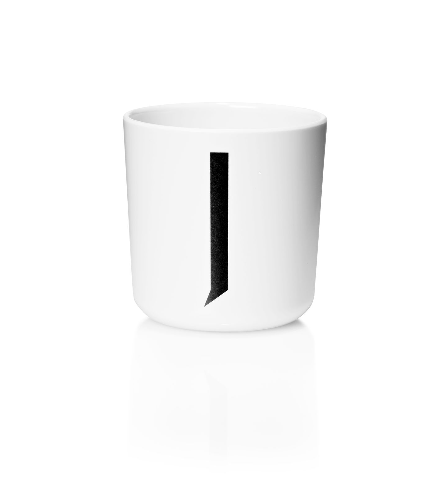 ​Design Letters - Personal Melamine Cup J - White (20201000J)