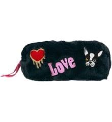 "Top Model - ""Fluffy"" Pencil case - Dog - Navy (0410684)"