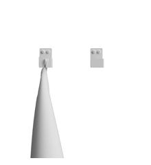 Nichba-Design - Bath Hooks 2 pcs - White (L100103W)