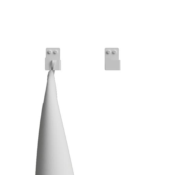 Nichba-Design - Håndkleknagg 2 pak - Hvit