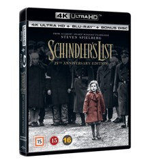 Schindlers list (4K + Blu ray)