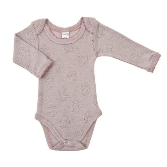 Smallstuff - LS Body Merino wool Jaquard - Blue Rose