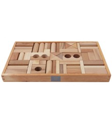 Wooden Story - Holzblöcke, natur, 54 Stück