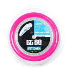 Yonex - Badmintonstrenge BG-80 Pink 200m