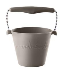 Scrunch Bucket - Blød spand til stranden - Lys grå