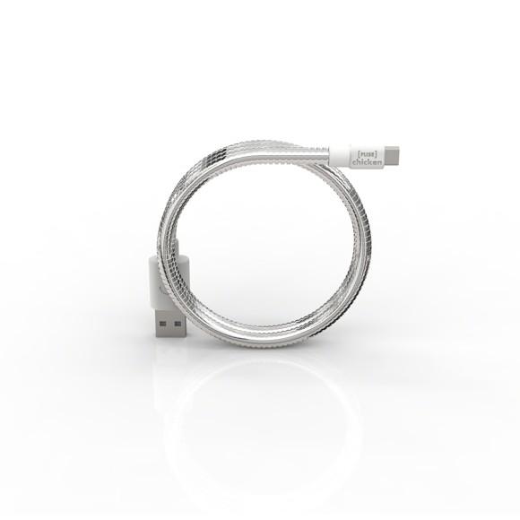 FUSE CHICKEN Synkkabel MicroUSB TITAN TRAVEL 0.5m Silver