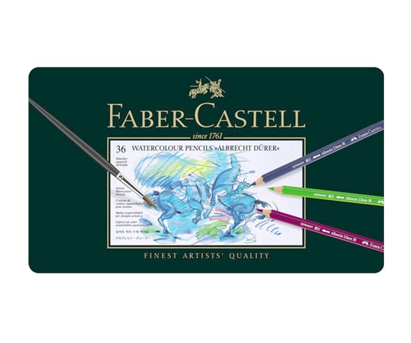 Faber-Castell - Albrecht Dürer Watercolour pencils - Tinbox of 36 (117536)