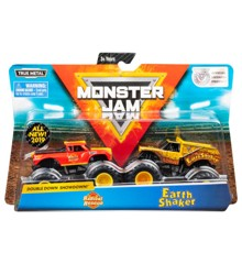 Monster Jam 1:64 2 Pakke - Radical Rescue & Earth Shaker