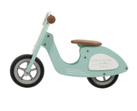 Little Dutch - Wooden Scooter, Mint (4384)